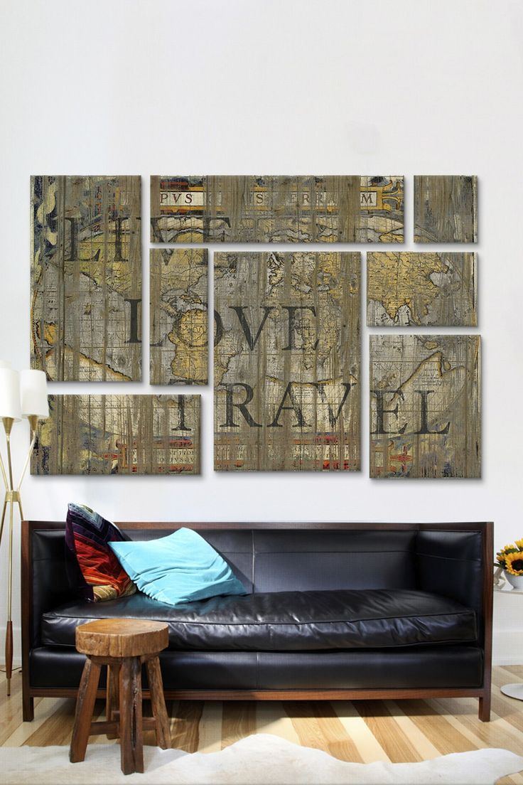 Live Love Travel 8 Panel Sectional Wall Art | HauteLook