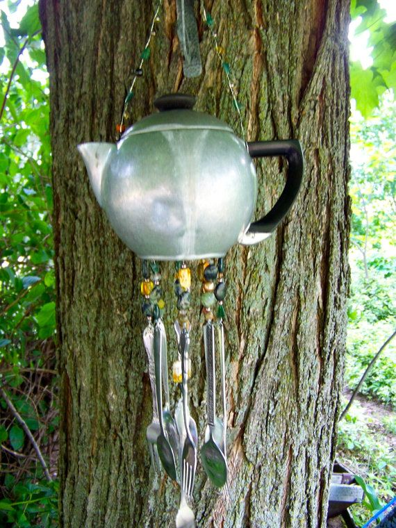 how to make teapot wind chimes