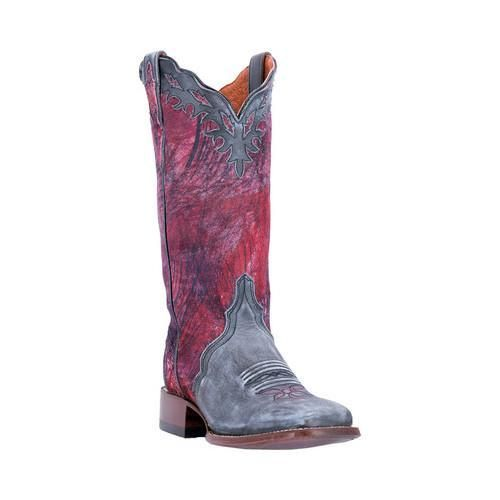 Women's Dan Post Boots Margie Broad Square Toe Cowboy Boot DP3939 Leather