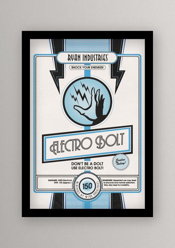 Retro BIOSHOCK Plasmid Posters | Video Games | Pinterest