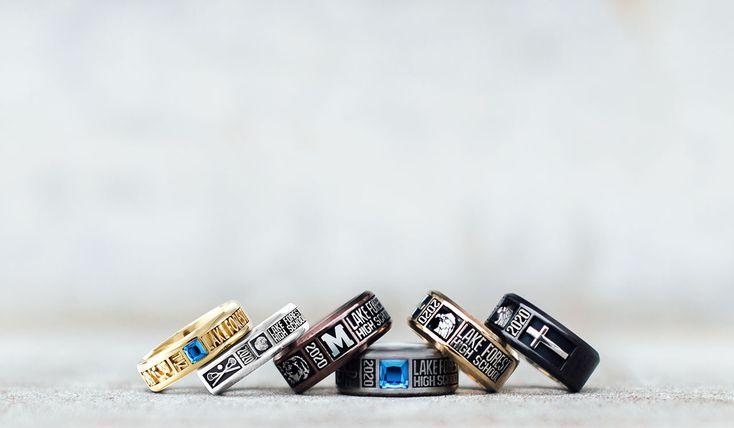 High school class band rings by jostens school rings