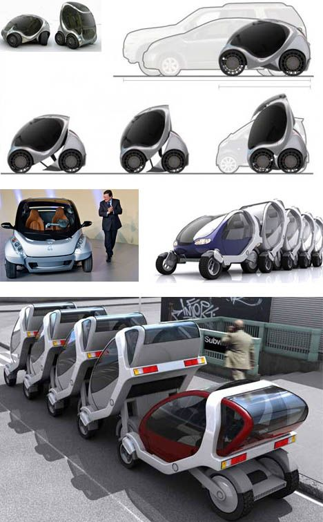 ♂ Futuristic transportation car mit stackable concept