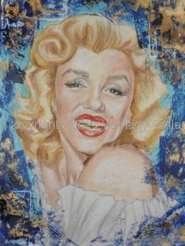 Portrait of Marylin Monroe by Agnes Varnagy Gallery