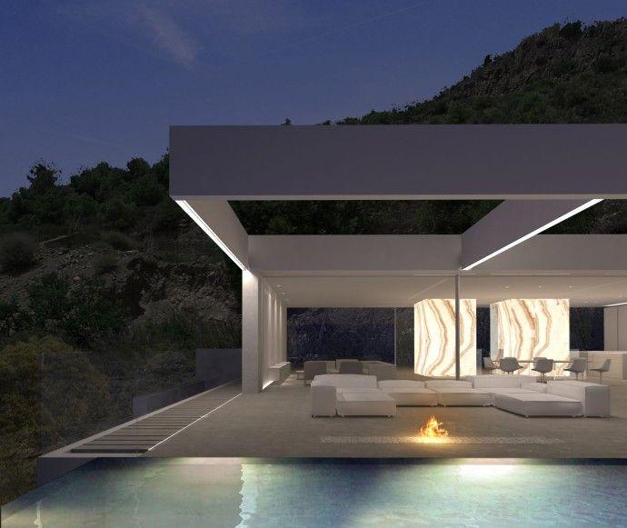 17 meilleures id es propos de villa de luxe sur pinterest villas architecture moderne et - Couleur de gevel de maison moderne ...