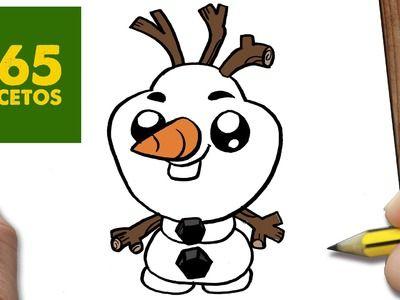 COMO DIBUJAR OLAF KAWAII PASO A PASO - Dibujos kawaii faciles - How to draw a Olaf
