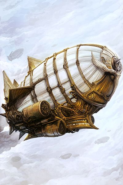 Steampunk Airship (Metallic Paper) from Brass & Steam Productions on Storenvy