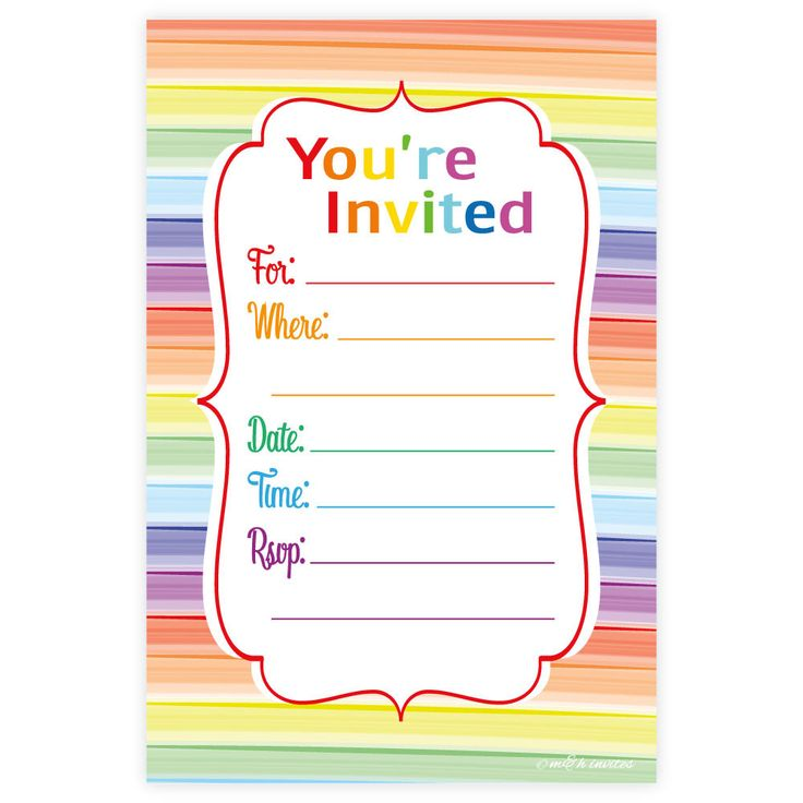 Best 25+ Rainbow party invitations ideas on Pinterest | Rainbow ...