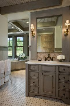 Farmhouse bathroom design ideas pictures remodel and for Country master bathroom ideas
