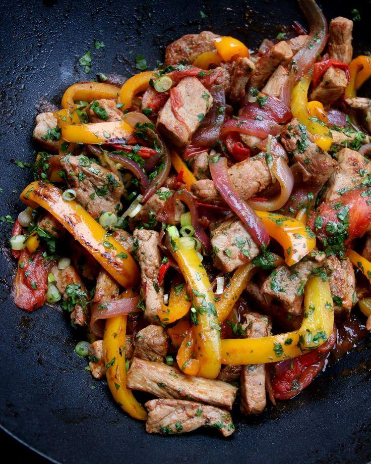 Best 25 lomo saltado ideas on pinterest aji recipe peru pork lomo saltado peruvian inspired pork stir fry latin recipes forumfinder Images