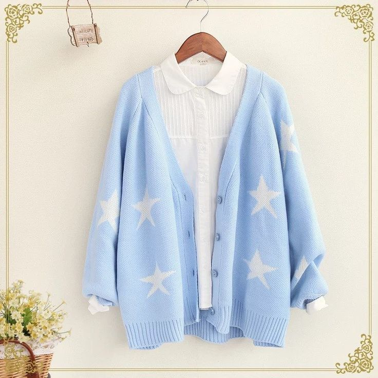 "Black/Pink/Blue sweater coat   Coupon code ""cutekawaii' for 10% off"