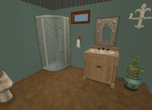 Website With Photo Gallery Southwest Spanish Bathroom virtual design home d cor using The Sims