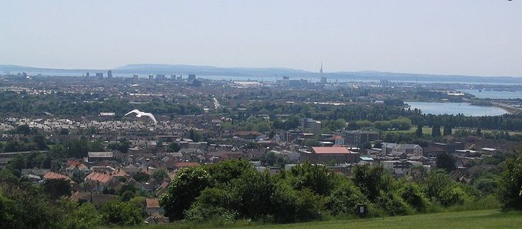 View from Portsdown Hill - a burger and a cup of tea from 'Micks Monster Burgers' is a Pompey tradition