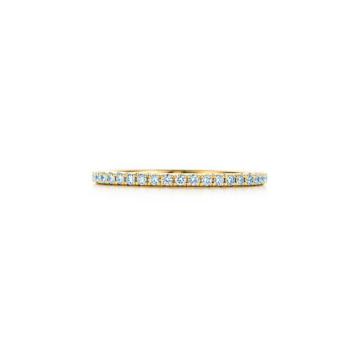 Bague Tiffany Metro en or 18carats et diamants.   Tiffany & Co.