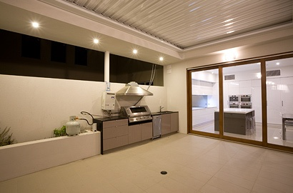 Courtyard of our Lightsview Terrace Display Home, open by appointment.