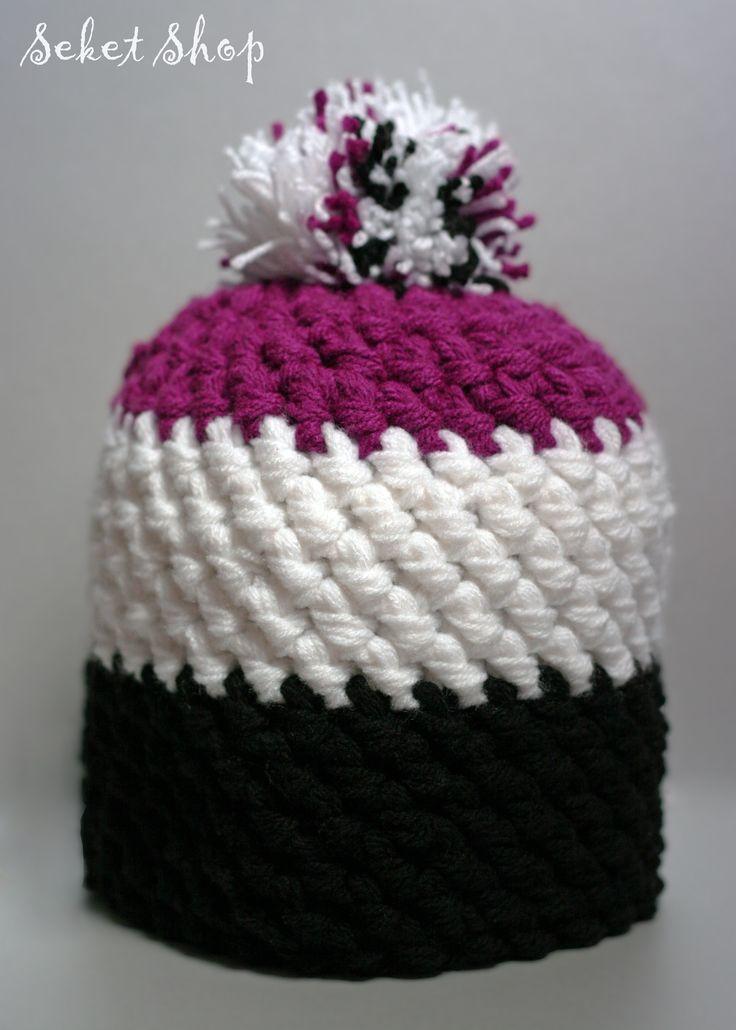 """crochet beanie """"coolich"""" hat"""