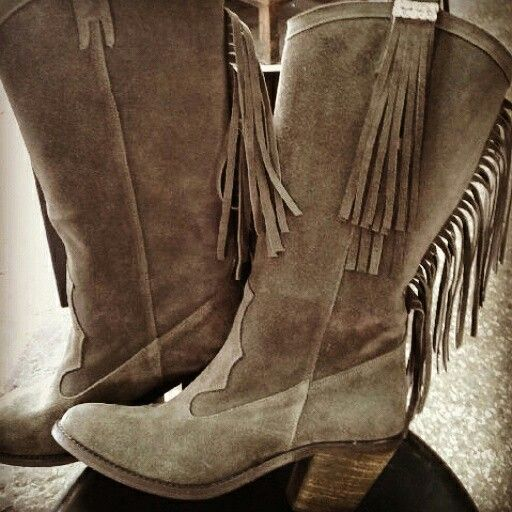 New cowboy boots suede