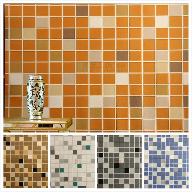 Find More Information About Modern 3D Brick Mosaic Wallpaper Italian  Embossed PVC Waterproof Wallpaper For Bathroom