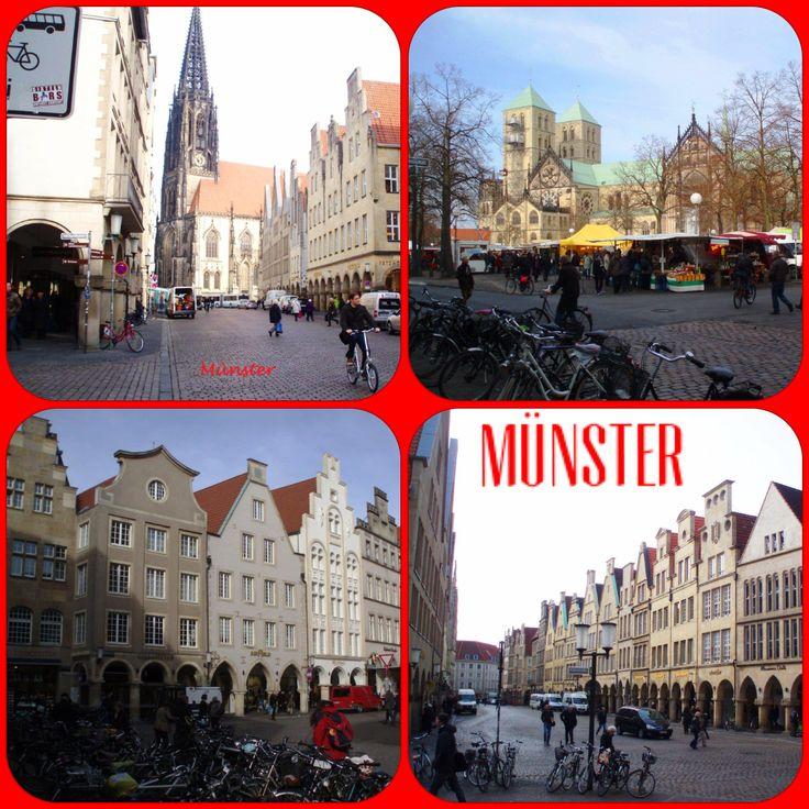DAG 4 / Na ontbijt naar Ermelo via Münster (geweest van 11:30-13:30 uur). Geparkeerd am Dom. Leuk: we liepen zo de markt op (woensdag marktdag). Rondgewandeld door centrum en op de markt aan een kraampje wat gegeten (wat jammer, dat je maar 1 maag hebt, in Duitsland…). Je ziet en ruikt overal van die heerlijke dingen...