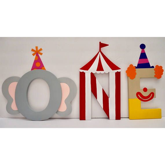 ONE Circus Themed Letters price is per letter  Circus Party