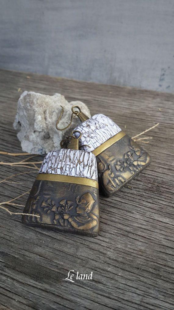 Pendientes egipcios declaración conjunto pendientes Boho étnicos pendientes regalos regalo para su rústico Joyas artesanales grandes