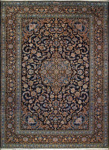"Buy Kashan Persian Rug 9' 0"" x 12' 6"", Authentic Kashan Handmade Rug"