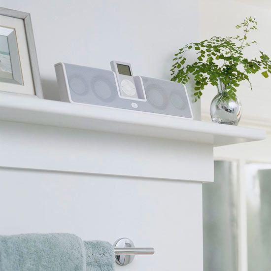 bathroom attic bathroom bathroom ideas bathrooms shelf board ipod