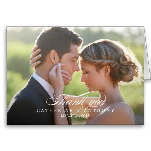 Pure Elegance Wedding Thank You Card