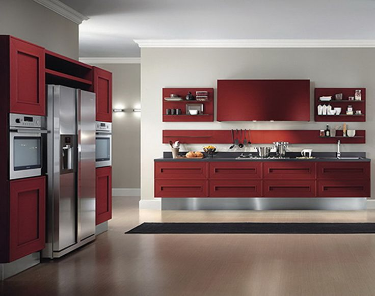 pretty modern red kitchen cabinets listed small kitchen design kitchen cabinet design ideas grasscloth wallpaper best free home design idea - Red Kitchen 2015