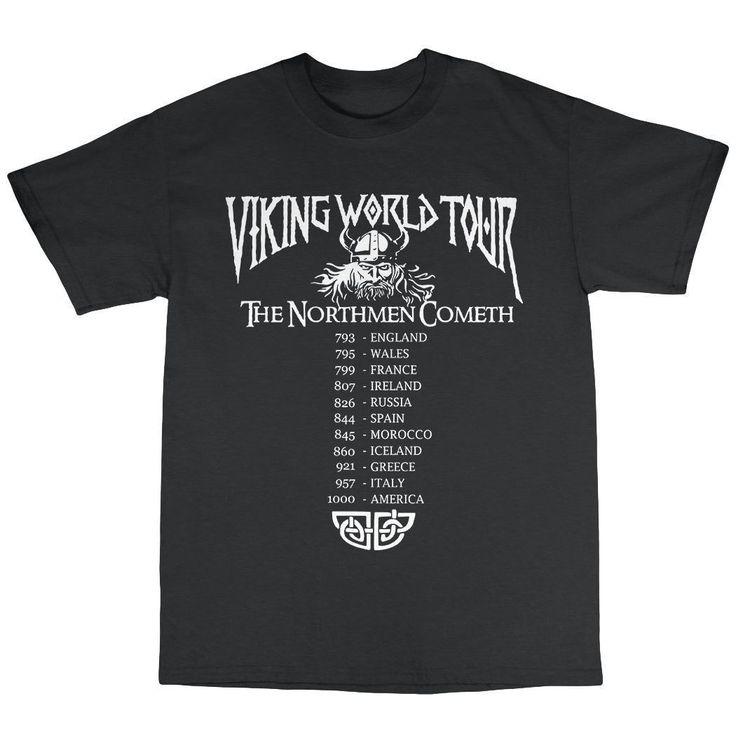 >> Click to Buy << Vikings World Tour T-Shirt 100% Cotton Ragnar Lothbrook Heavy Metal Valhalla Men Short Sleeve Cotton Fitness T Shirts #Affiliate