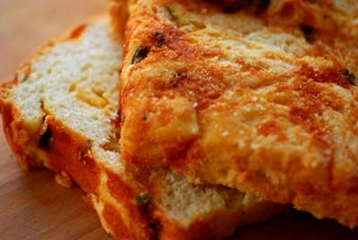 Jalapeno - cheese bread... Ok the problem won't be making it.. it'll be not eating the whole loaf