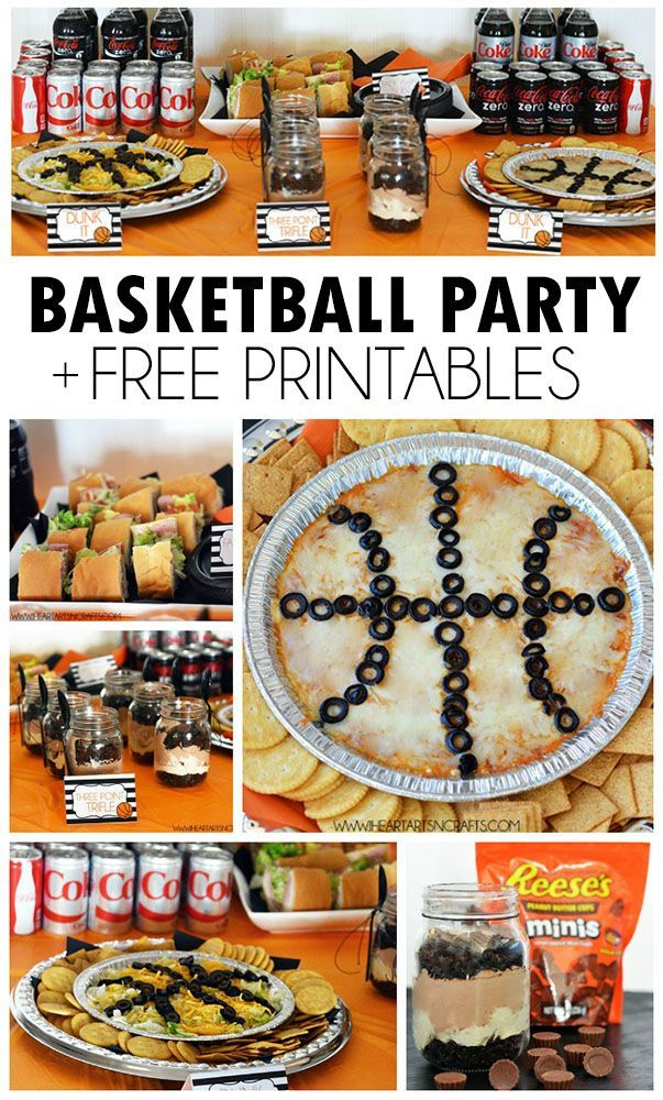 Basketball Party Recipes + Free Printable Food Labels #EasyBracketParty #ad