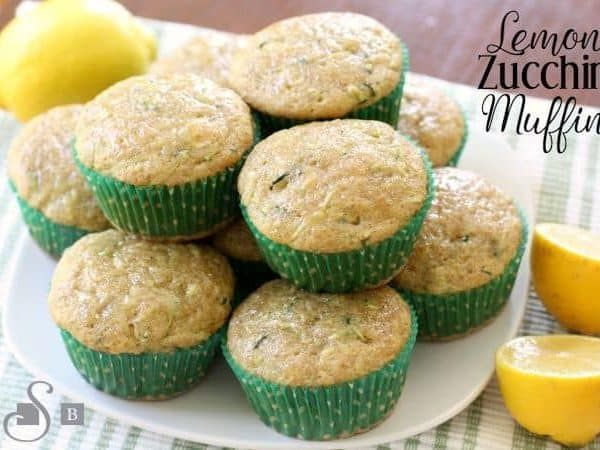 Lemon Zucchini Muffins are a favorite when the garden is bursting with fresh zucchini! More delicate than zucchini bread & has a bright flavor from lemons.