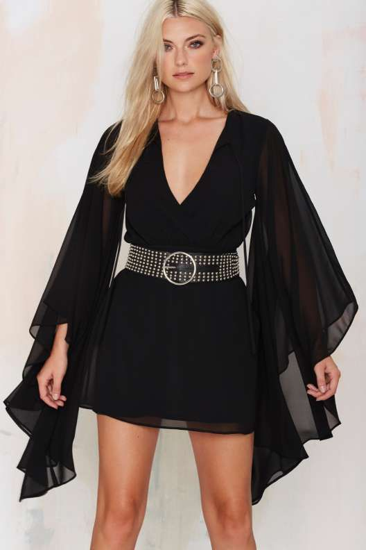 Nasty Gal Bells & Whistles Dress - Black - Sale
