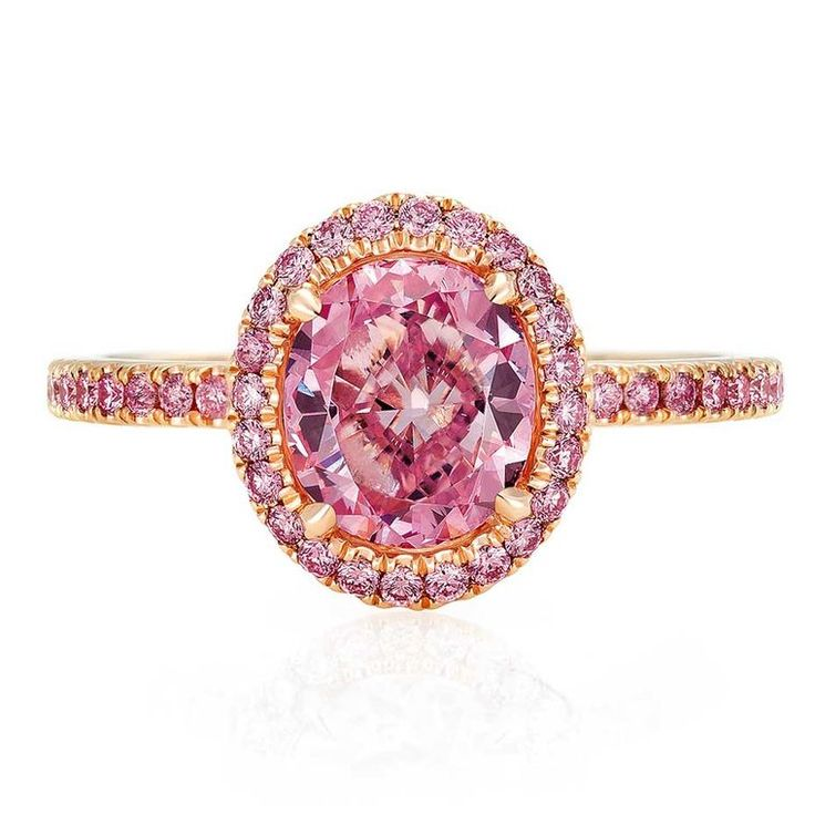 Pink And Diamond Ring