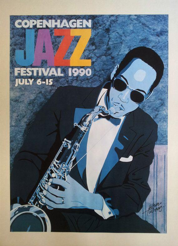 1990 Copenhagen Jazz Festival  Original Vintage by OutofCopenhagen