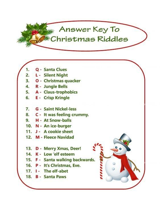 Christmas Riddle Game Diy Holiday Party Game Printable Christmas Game Diy Game For Holiday Xm In 2020 Printable Christmas Games Christmas Riddles Diy Holiday Party