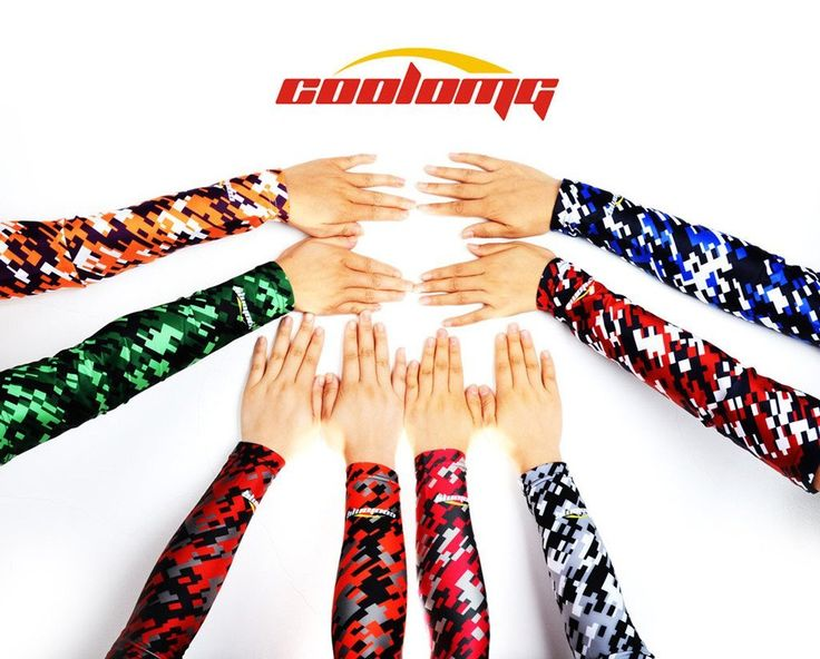 COOLOMG 1 Stück Hautfreundlich Anti-Rutsch Anti-UV Radsport Arm sleeves armlinge für Damen Herren Digital Camo 8 Color XXS-XL: Amazon.de: Sport & Freizeit