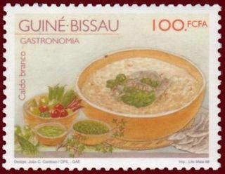 Guinea-Bissau 1998 Local Gastronomy - Caldo branco |  Designed by: João C Cardoso  Printed by: Lito Maia, Porto, Portugal