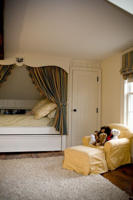 Traditional Clear Bed Inside Rustic Kids Bedroom Ideas Near Yellow Sofa Along With Wide Rug On Wooden Floor