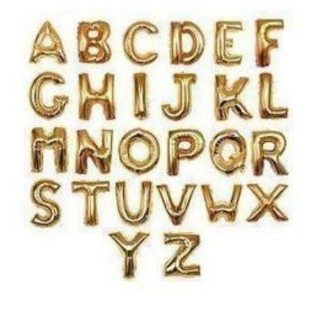 Giant Size 40 inches Foil Balloons Capital Alphabet Letter Balloons A - Z in Gold or Silver Color