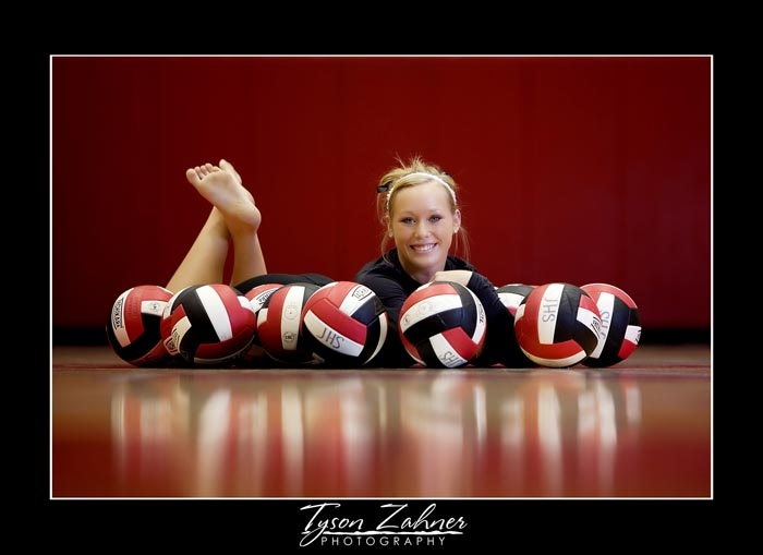 volleyball senior. but I think with basketballs would be pretty cool