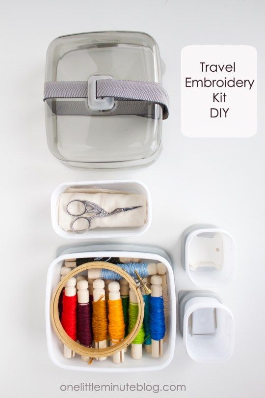 Travel Embroidery Kit- One Little Minute Blog-13