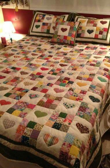 I want to do this for the girls with fabric from all the stuff that I see for them. Just buy a little extra yardage so I don't have to cut up the clothes and give them all the clothes and toys to go along with the quilt.