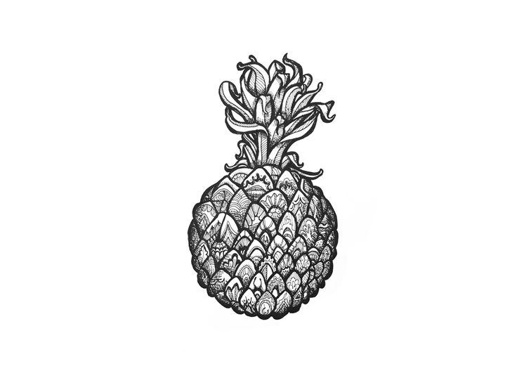 circle series-pineapple