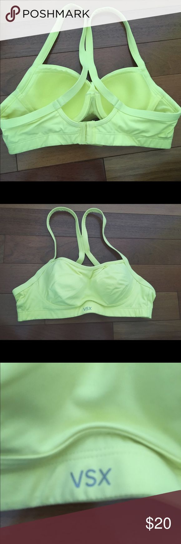 VSX neon yellow sports bra Only worn twice, the condition is perfect! Have no more use to it. Thanks for looking!! Intimates & Sleepwear Bras