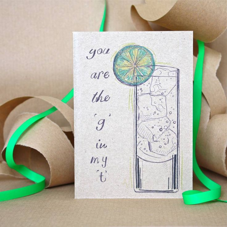 Gin And Tonic Card