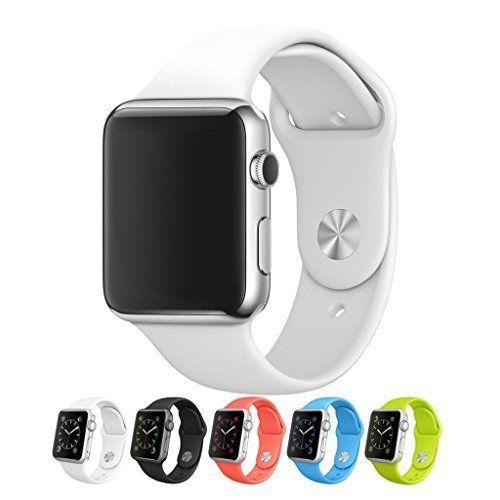 Japace® Color de Silicona Suave Watch band Reemplazo Uhrenarmband Correa Watch Banda iWatch Reloj Pulsera Muñequera Wrist Strap para Apple Iphone Watch (42mm) --- Silicona-Blanco(Apple reloj no incluye) - http://complementoideal.com/producto/tienda-socios/japace-color-de-silicona-suave-watch-band-reemplazo-uhrenarmband-correa-watch-banda-iwatch-reloj-pulsera-muequera-wrist-strap-para-apple-iphone-watch-42mm-silicona-blanco-apple-reloj-no-incluye/