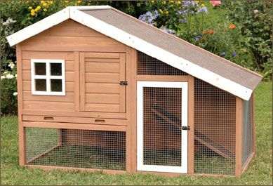 Hutch style chicken coop: simple, small and easy to clean. THIS WOULD MAKE A GREAT HOUSE FOR MY CATS