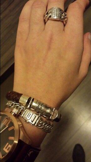 Buddha to buddha armband Nathalie & Ben leather!