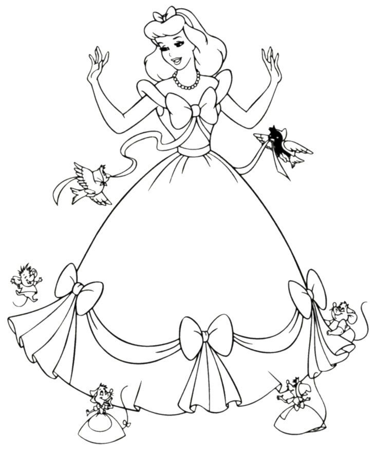 Cinderella Coloring Pages Disney See The Category To Find More